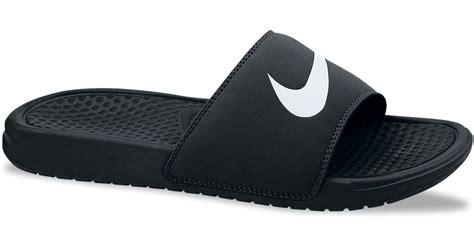 nike benassi swoosh slide sandals nike s benassi swoosh slide sandals from