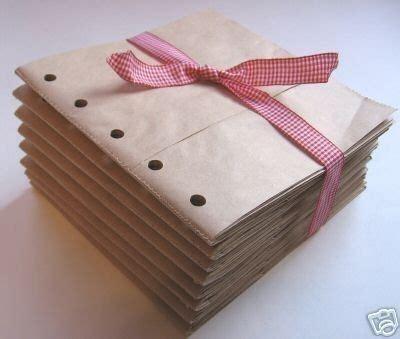 8x8 sewn paper bag scrapbook albums 8 brown books