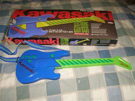 kawasaki kids electric guitar  remco vtg  box musical toy