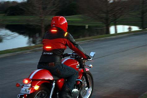 motorcycle turn signal lights impulse jackets put your signal lights up where drivers