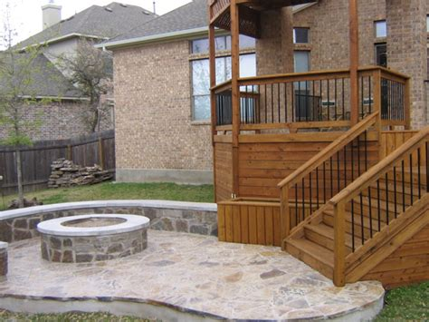 decks and patios this small wooden deck leads to a s