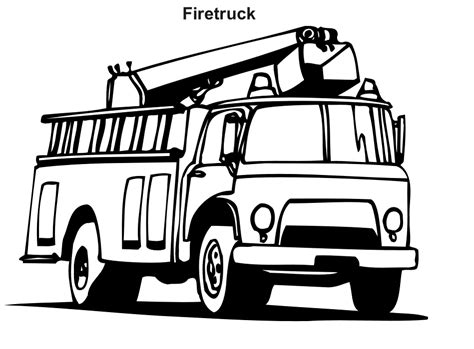 Free Printable Fire Truck Coloring Pages For Kids Firetruck Color Page