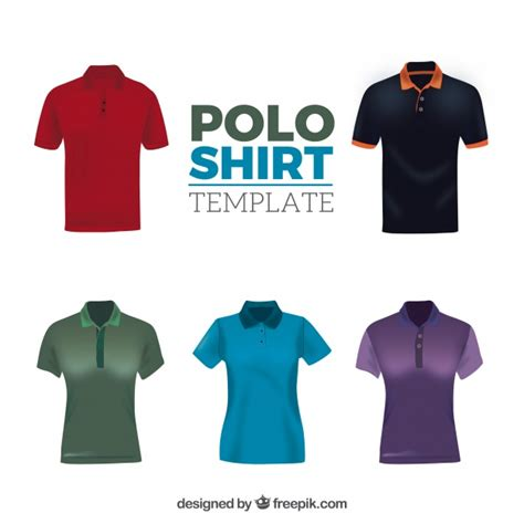 polo t shirt pattern vector different patterns male and female polo shirt collection