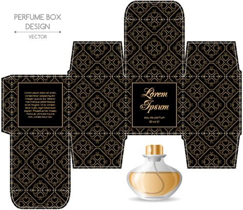 cologne box template perfume box packaging template vectors material 02