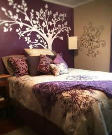 purple accent wall bedroom pinterest