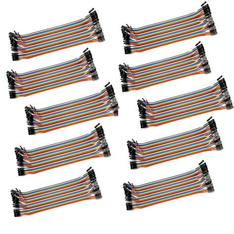 10x 40 pin dupont jumper kabel 20 cm