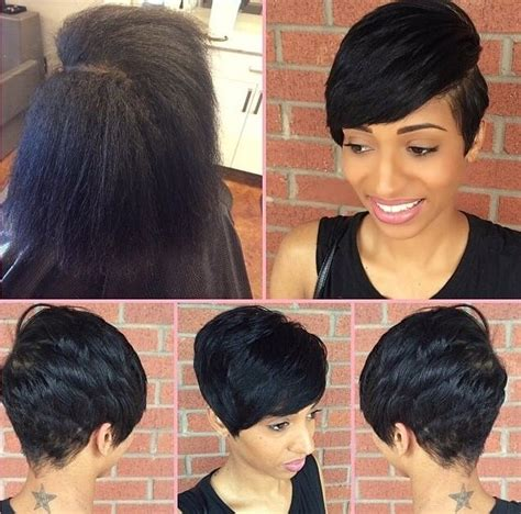 relaxer for short hair short cut with full bang thecutlife hairbylatise hair