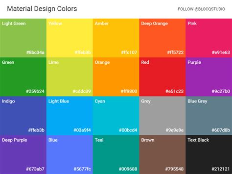 material design color schemes material design colors by simo djuric dribbble