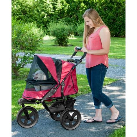 Rugged Stroller by At3 No Zip Pet Stroller Rugged