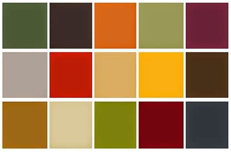 fall color schemes fashion promotion blog 1970s colour palettes patterns