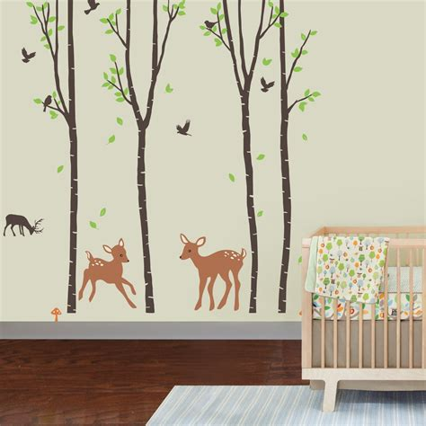 wall tree decals for nursery jungle wall decals theme ba room nursery image of for