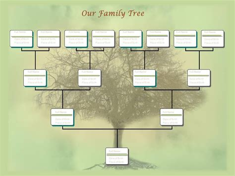 free family tree template printable blank family tree chart