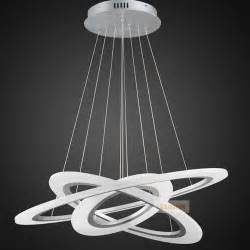 Led Pendant Light Fixtures Circle Ring Led Modern Chandelier Light Fixture Led Acrylic Hanging L Led Lighting Stair