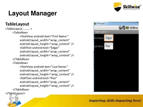 layout manager for relativelayout android application fundamentals
