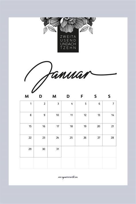 Kalender Online Drucken Monat by Meine Kalender 2018 Zum Ausdrucken F 252 R Dich My Mirror World