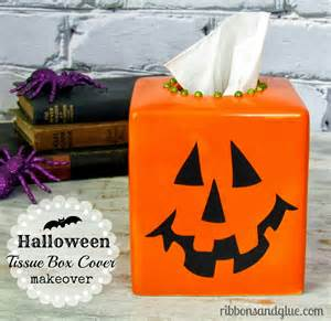halloween tissue box cover halloween tissue box cover ribbons amp glue