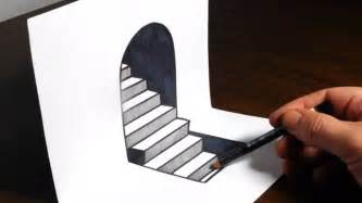 How To Draw 3d Stairs On Paper by How To Draw 3d Steps Easy Trick Art Youtube