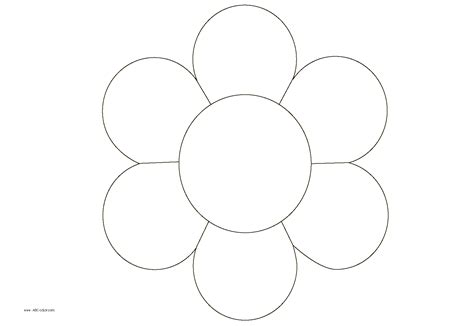 flower coloring free coloring pages of 10 flower petals