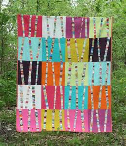bright birch trees by amanda jean nyberg quilting pattern