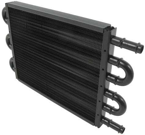 oil cooler with fan derale tube fin engine oil cooler kit w sandwich adapter