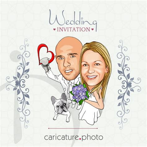 imagenes borrosas pdf caricaturas en bodas caricatura invitacion boda
