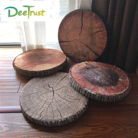 Pp Paket Protector 3 In 1 Matras Pillow Bolster Protector new creative 3d pillow ring stump seat cushion pp cotton office chair almofada sofa