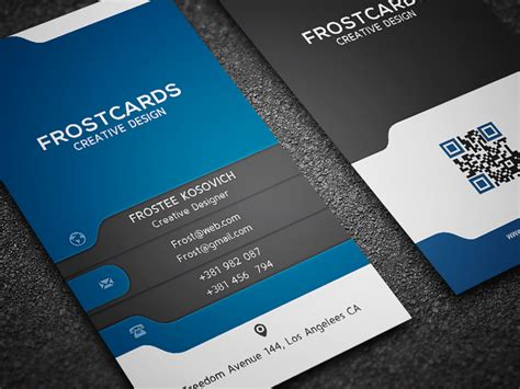 modern cards modern business card template no 6 by frosteeish on