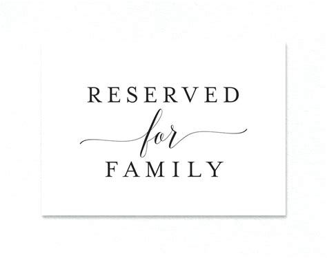 reserved place card template free printable reserved table signs for wedding