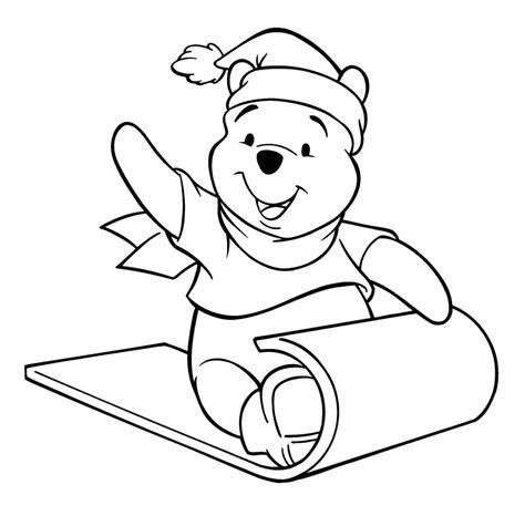 coloring pages winnie the pooh christmas pooh desenhos para colorir