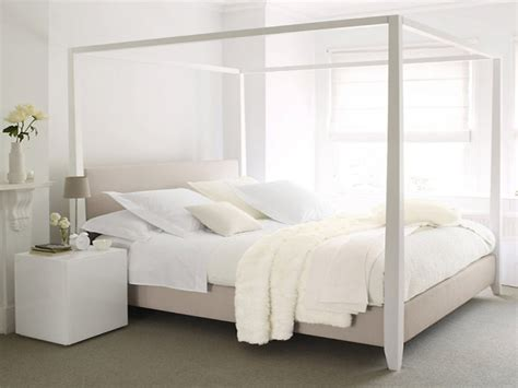 white four poster bed white four poster bed in bedroom designs
