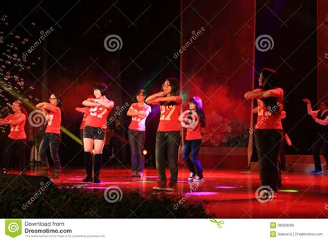 new year show in china high school musical stage show in new year show editorial
