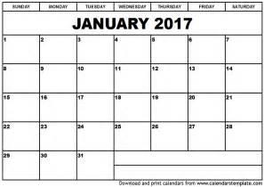Html Calendar Template by January 2017 Calendar Printable Templates