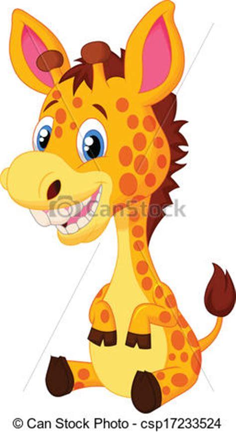 ilustraciones vectoriales de jirafa caricatura vector ilustraciones de vectores de lindo jirafa caricatura