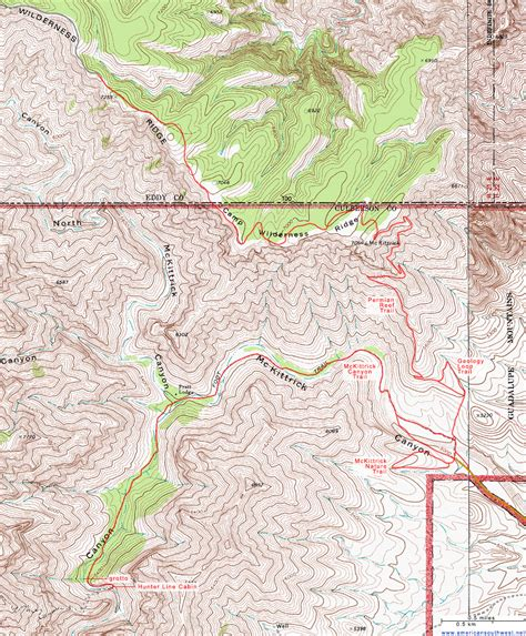 topographic maps of texas topographic map of the mckittrick and permian reef trails guadalupe mountains national