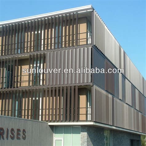 Stationary Awning Aluminum Operable Louver Motorized Louver Automatic
