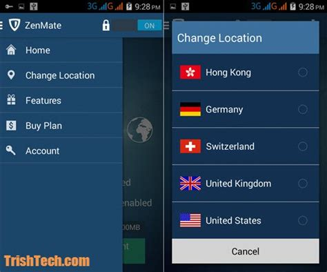 zenmate for android zenmate vpn for android hides ip address and protects from harmful