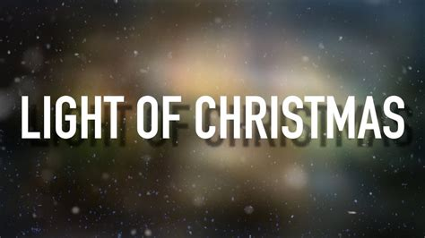 light of christmas feat owl city lyric video