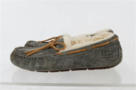 ugg australia light brown suede bow faux fur women s - Boat Shoes Ebay Australia