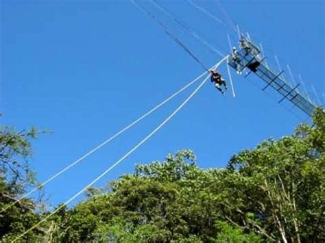 monteverde zip line tarzan swing tarzan swing finale of the adventura canopy tour