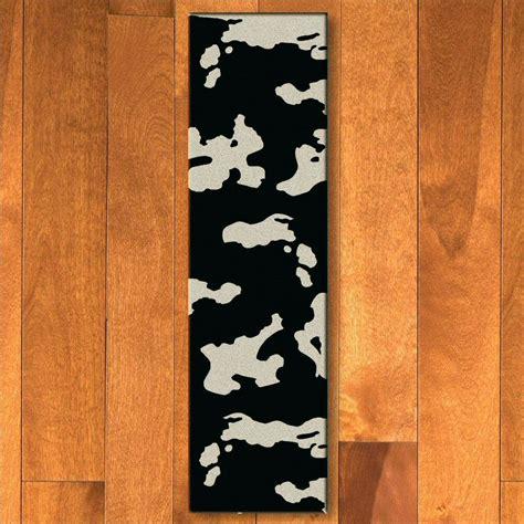 Cowhide Floor Rugs - 2 x 8 black cowhide western rectangle runner rug floor