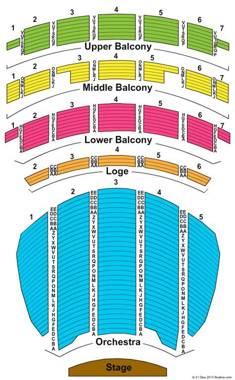 sheas performing arts center seating