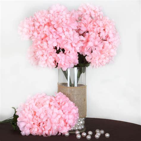 mum flower arrangement pink jpeg 4 bushes 56 large chrysanthemum mums balls silk wedding flowers centerpieces