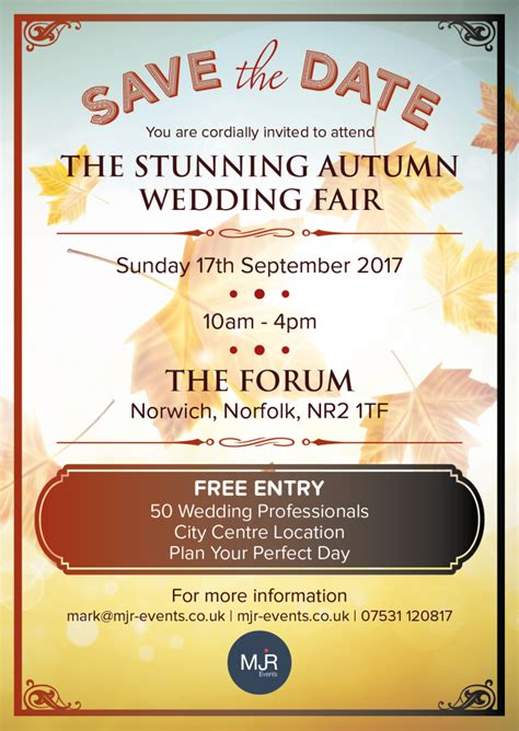 Wedding Fair 2017 by The Stunning Autumn Wedding Fair 2017 Mjr Events