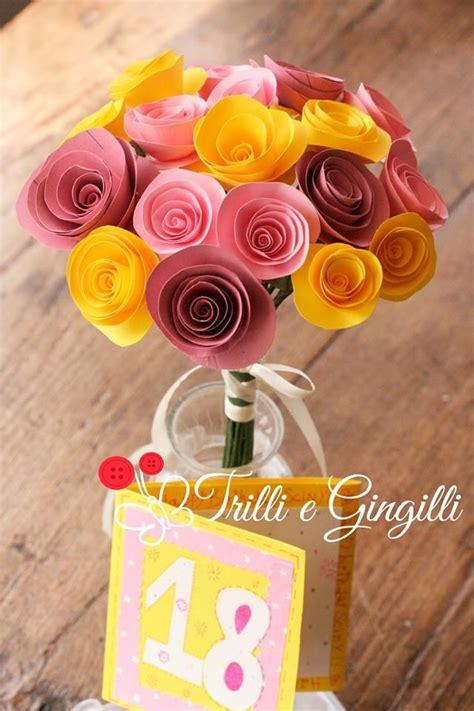 mazzo di fiori di carta mazzo di fiori di carta e biglietto d auguri realizzati