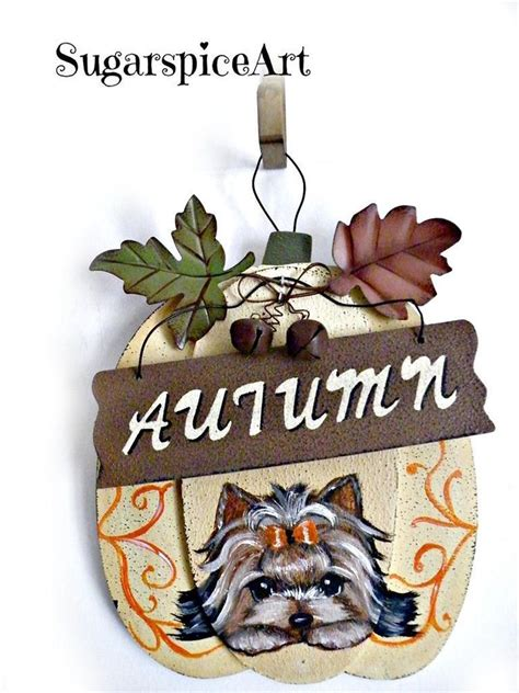 yorkie welcome sign yorkie welcome sign autumn painted home door decor sugarspiceart home