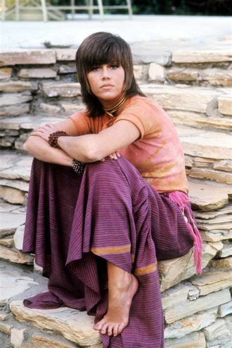 1971 shag hairstyle actress jane fonda with 70s shag haircut hair tos