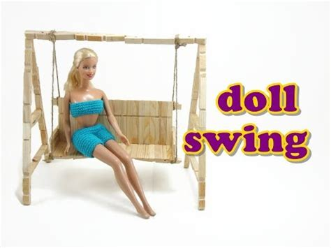 how to make a swing out of a tire doll furniture tutorial swing youtube