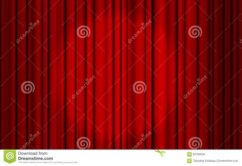 red and white spotty curtains red closed curtain with light spots in a theater stock