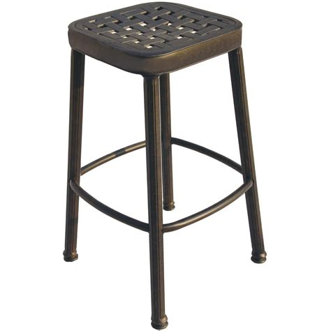 bar stool outdoor darlee classic cast aluminum square backless patio counter