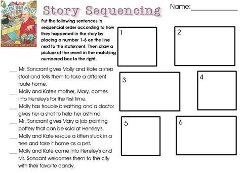sequencing worksheets  grade